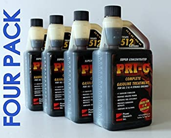 PRI-G 4 PACK Each 32oz bottle treats 512 gallons of Gasoline +FREE SHIP++