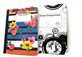 Floral Composition Notebook & 5 x 5 Graph Notebook ~ Pack of 2