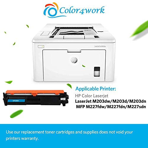 Color4work Compatible Toner Cartridge Replacement for HP 30X 30A CF230A CF230X High Yield Black, 1-Pack, use with HP 32A CF232A Imaging Drum Photo #3