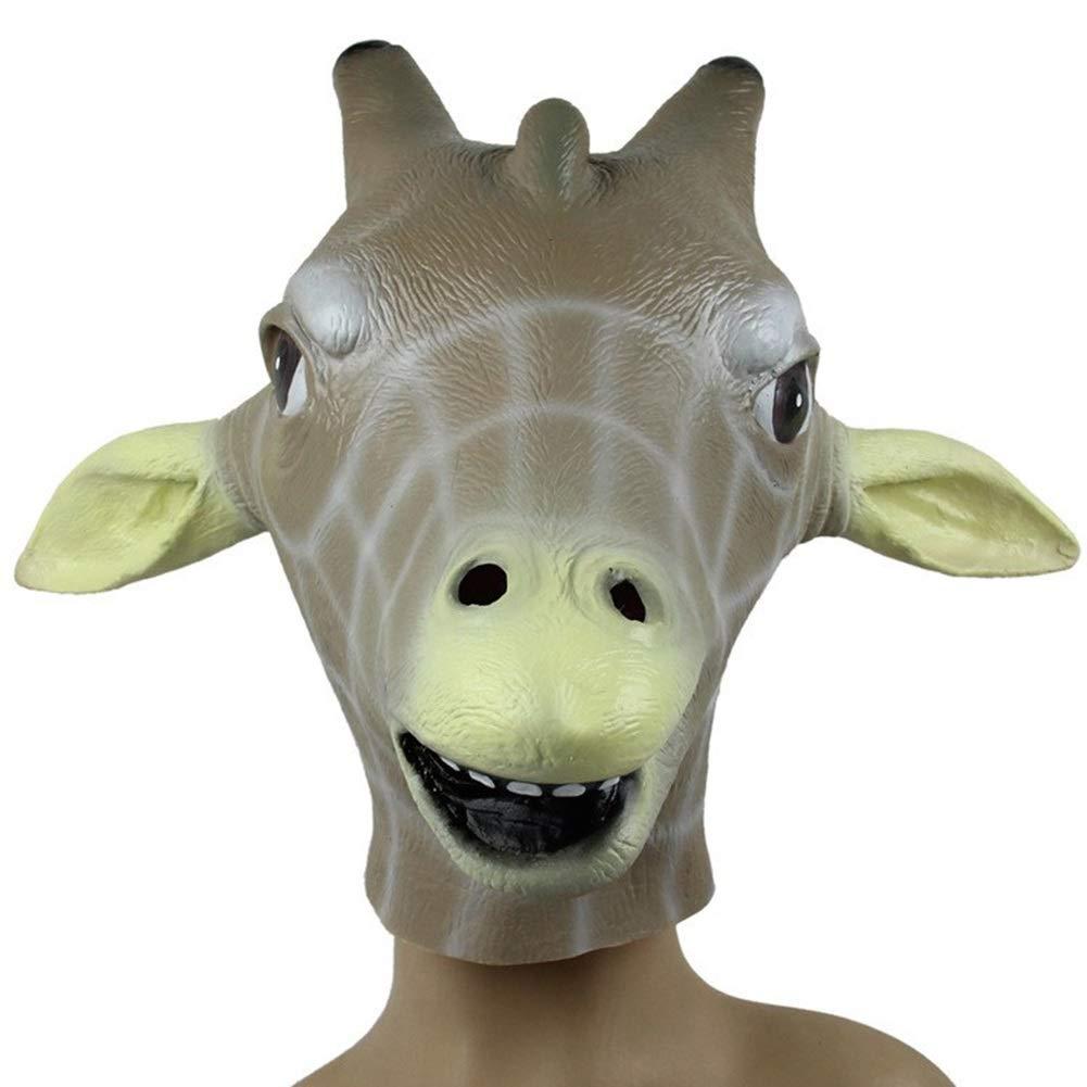 Environmentally Friendly Latex Giraffe Headgear Masquerade Animal Show Decoration Animal Mask Giraffe Mask by LSGNB