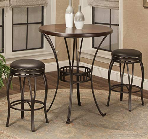 Bronze Pub Table - Sunset Trading CR-J3005-42-3PC Victoria Dining Pub Table Set, Small, One Size, Bronze and Cherry