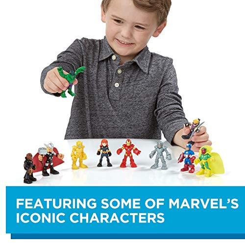Playskool Heroes Marvel Super Hero Adventures Ultimate Super Hero Set, 10 Collectible 2.5-Inch Action Figures, Toys for Kids Ages 3 and Up (Amazon Exclusive)