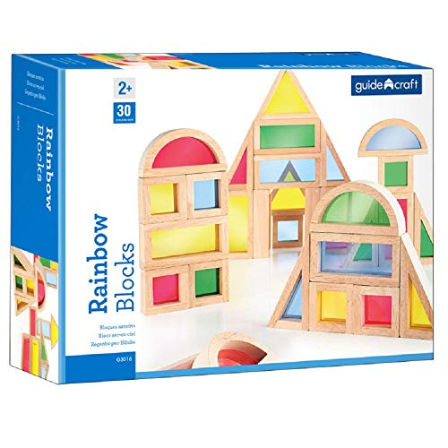 Rainbow Blocks 30 Asst Shapes By Guidecraft Usa [Office - Rainbow Blocks Usa Guidecraft