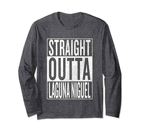 Laguna Long Sleeve (Unisex Straight Outta Laguna Niguel Gift Idea Long Sleeve T-Shirt Large Dark Heather)