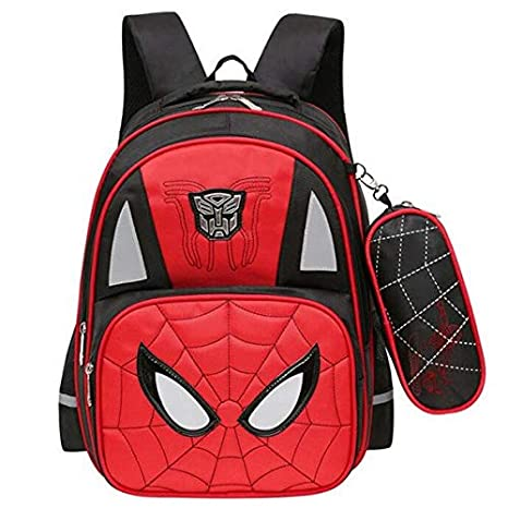 Amazon.com: KZWZ 2017 Animated Cartoon Spiderman Boy School Bags Wear-Resisting 2-6 Grade Book Bag Large Capacity Elementary Mochila: Kitchen & Dining