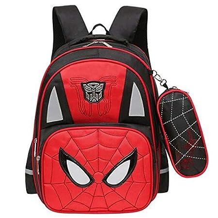 Amazon.com: KZWZ 2017 Animated Cartoon Spiderman Boy School Bags Wear-Resisting 2-6 Grade Book Bag Large Capacity Elementary Mochila: Kitchen & Dining