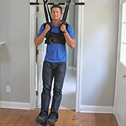 Sit and Decompress - The Ultimate Back Stretcher / Lumbar Traction - Increase your disc space by 20% instantly while in use. (Large Harness Only)( Fits 42-47 inch chest )