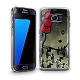 Katzen 100, Hello Kitty, Das Kristallklare Ultradünn Gel Crystal Silikon Handyhülle Schutzhülle Handyschale mit Farbig Design für Samsung Galaxy S7