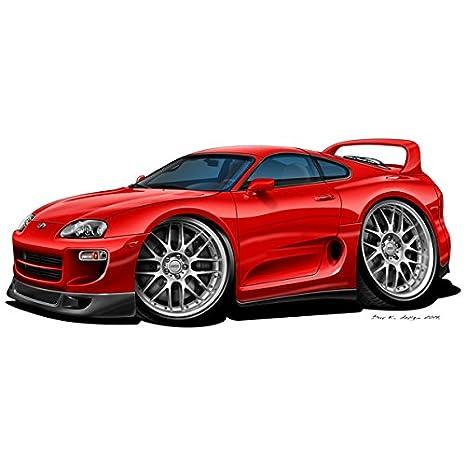 Toyota Supra Mk4 Turbo – Vinilo adhesivo decorativo para pared – rojo, rosso, medium