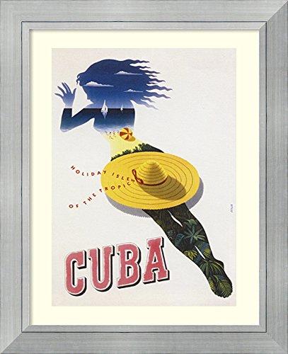 Coastal Sombrero Hat - Framed Art Print 'Cuba' by Julius Seyler
