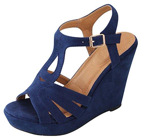 Ankle Platform Wedge Sandal - 6