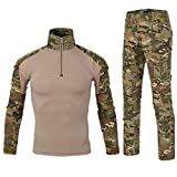 Be Dreamer Military BDU Uniform Tactical Combat Training Suit,Multicam,XL