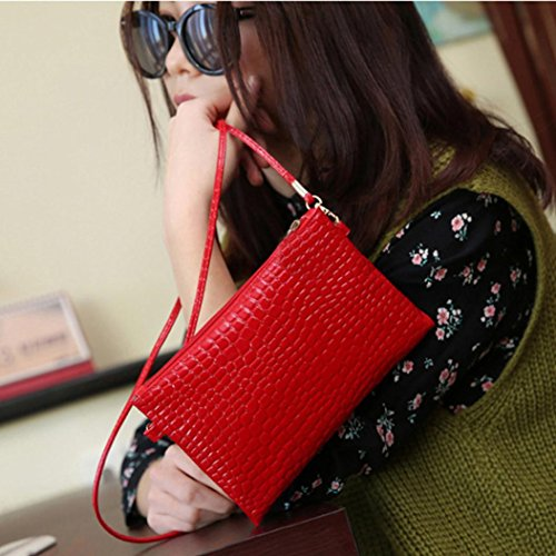 Crocodile Handbags Bag Hot Crossbody Zipper For Shoulder and Bag Leather Patten Red Girls Bag PU NXDA Fashion Messenger Women Pink Y7w51q1R