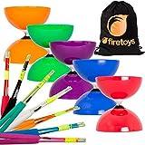 yo yo starter kit - Juggle Dream Big Top Diabolo, Superglass Fibre Diablo Sticks & Firetoys Bag (Orange Diabolo/Black Sticks)