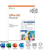 Microsoft Office 365 Personal 1 Year | PC or Mac Key Card (Packaging May Vary)