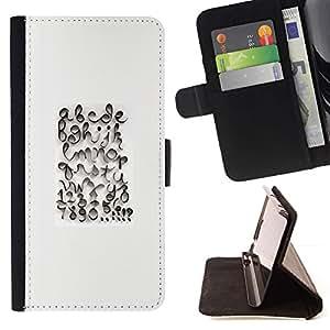Momo Phone Case / Flip Funda de Cuero Case Cover - Caligrafía Diseño Abc Blanca - LG Nexus 5 D820 D821