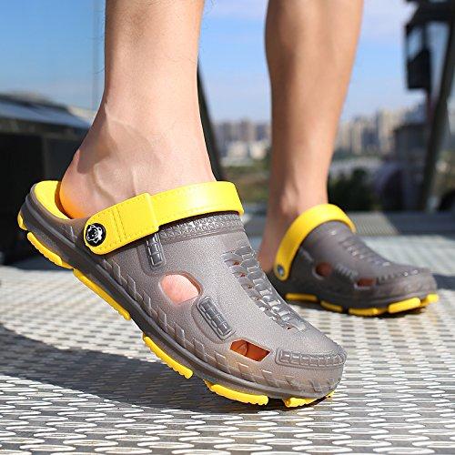 sandali spiaggia acqua scarpe spiaggia da 41 pantofole scarpe traspirante semi uomini trascinato Il viaggio foro A giocare in da Grigio scarpe estivi Baotou fankou pWqT6IcwnS
