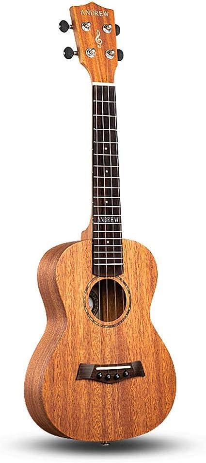 Ukulele Madera Sólida Popular Instrumento de Cuerda 23 Hawaii Guitarra Caoba Ukuleles Super Sonido Cuatro Colores (Color : B-23 MAHOGANY): Amazon.es: Instrumentos musicales