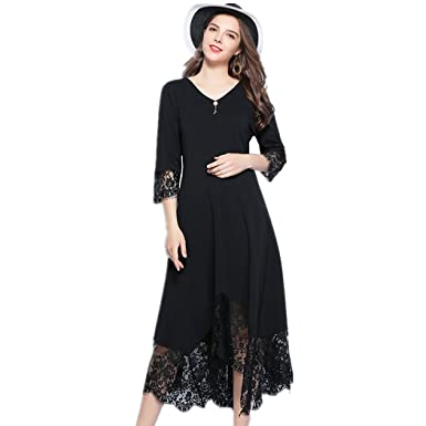 OBESEXY Big Womens Formal Dress 3/4 Sleeve Lace Evening Dresses Gown Party Prom at Amazon Womens Clothing store: