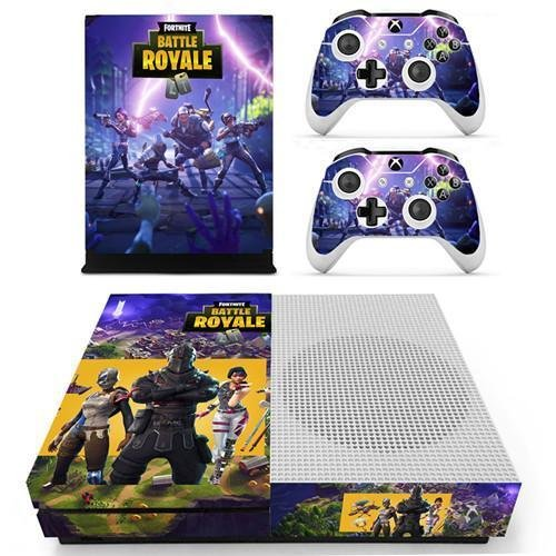 Xbox One Vinyl Skin Sticker Cover for Xbox System Console and Controllers- Fortnite (Squad) by FortGear