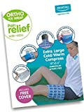 Medichill Cold/Warm Compress WITH COVER (Extra Large Size 18'x8.6') - Ice Pack/Cold Therapy for Knee, Arm, Elbow, Shoulder, Back for Aches, Swelling, Bruises, Sprains, Inflammation