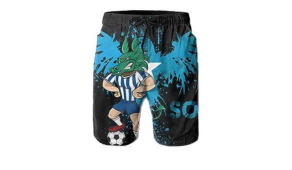 Dragon Soccer Player Dragon Footballer Swim Trunks Quick Dry Beach Board Shorts Men Pants Household Shorts