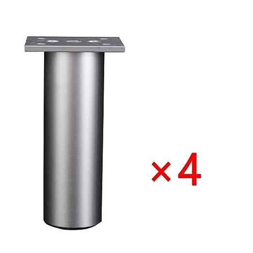 Patas ajustables para muebles, 4 patas de aleación de aluminio ...