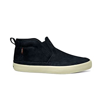 mid monk shoes mens vans black