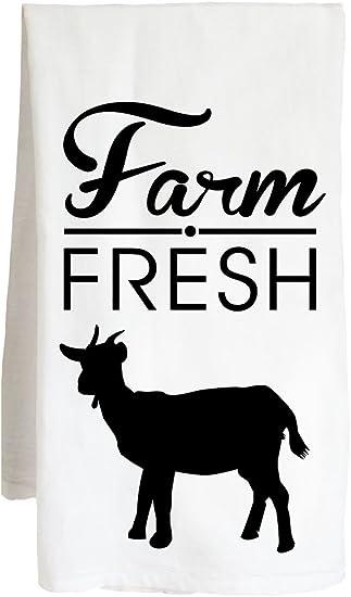 Stacked farmhouse Animals Cow Pig Goat Chicken l Dish Towel Flour Sack Tea Towel
