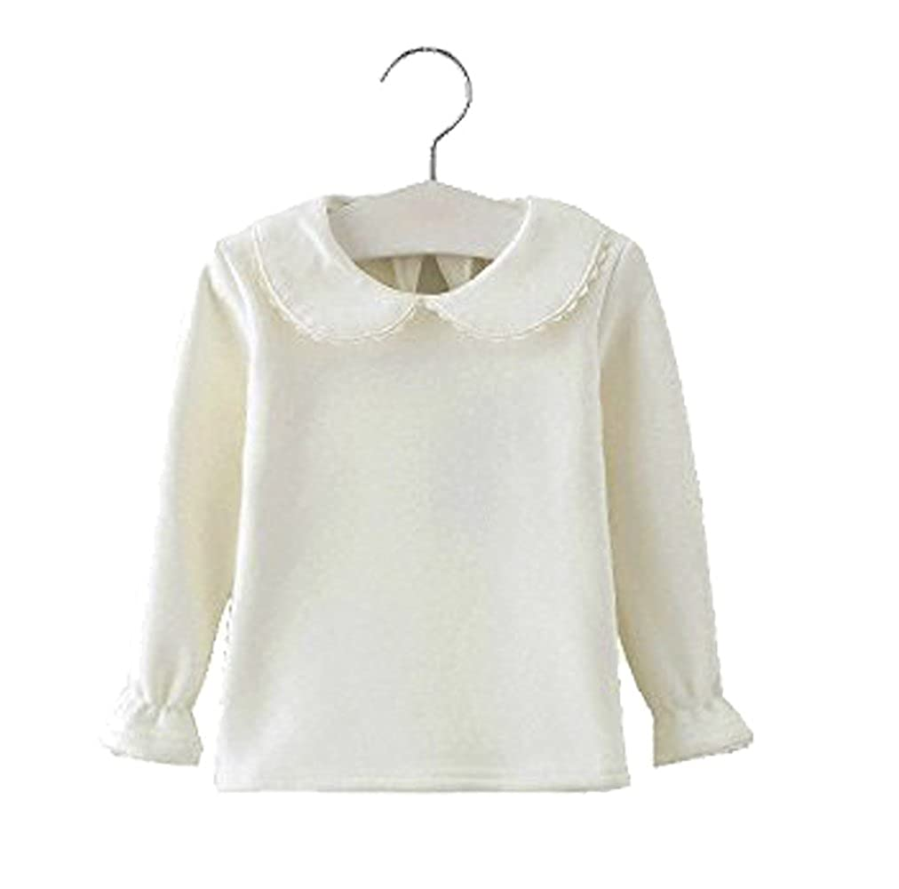 ed6a89ee Amazon.com: Baby Girls Infant Toddler Long Sleeves Thicken Velvet T-shirt  Tops Blouse: Clothing