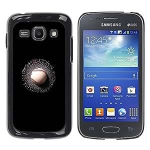Paccase / SLIM PC / Aliminium Casa Carcasa Funda Case Cover para - Sports Broken Black - Samsung Galaxy Ace 3 GT-S7270 GT-S7275 GT-S7272