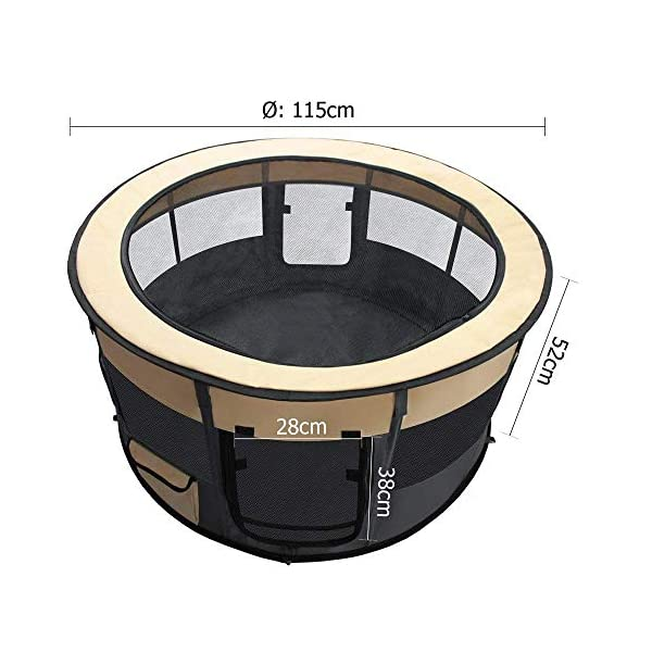 Dog Playpen Portable Pet Playpen Foldable Tent Extra Large Soft Cage Kennel Puppy Dog Safe Exercise Fence Crate Play Pen… Click on image for further info. 2