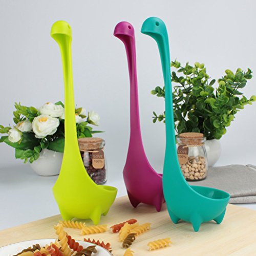 Standing Soup Spoon Creative Cute Dinosaur Plastic Serving Spoon Kitchen Tool-3pcs