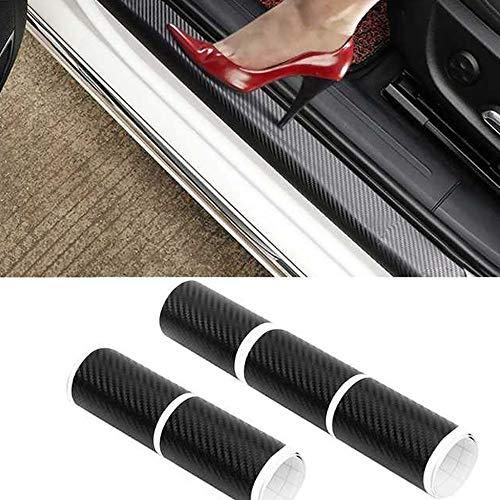 MAXTUF - 5 protectores de umbral de puerta 4D de fibra de carbono para coche, protección de parachoques, cubierta de la...
