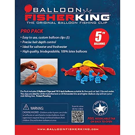 Amazon Balloon Fisher King 400 Pro Pack With 5 Balloon Clips