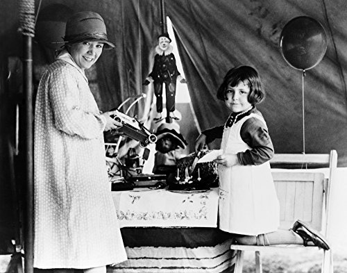 Lillian Leitzel (1892-1931) Ngerman Acrobat And Strongwoman For The Ringling Brothers And Barnum And Bailey Circus Photographed Helping Dolly Jahn Celebrate Her Birthday In A Circus Tent Photographed