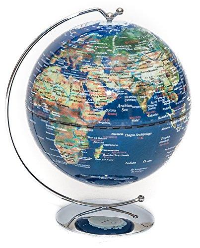 Blue Lighted Desk Globe 5