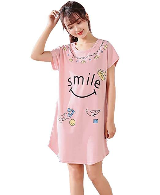 Pijamas Mujer Verano Algodon Manga Corta Vestido De Dormir Talla Grande Pijama Mujer Animales(M-XXL): Amazon.es: Ropa y accesorios