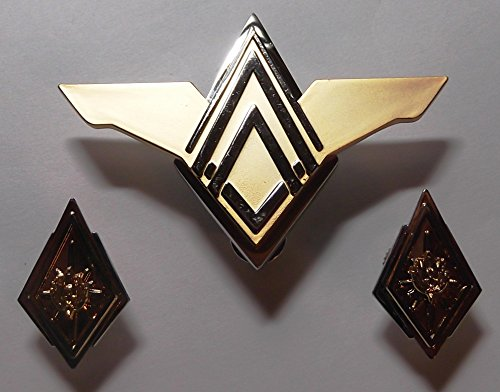 Battlestar Galactica Boomer Costume (Battlestar Galactica TV Series Deluxe Senior Officer Rank Pin Set)