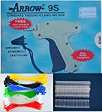 Arrow Standard 9S Tag Gun +1 Extra Needle + 2000 (Size 15mm) (3/4'') White Barbs (Fasteners)+300 Loop Pins, Price Label Clothing Tagging Attacher with High Quality Steel Needle Combo