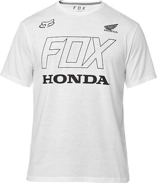 Fox Camiseta Honda Tech Optic Blanco (L, Blanco)