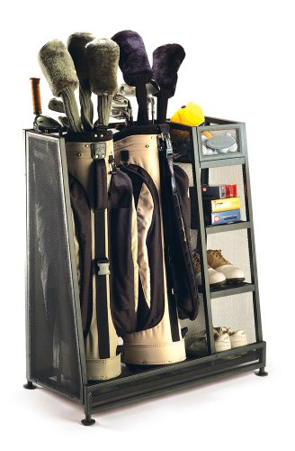 (Suncast Golf Bag Garage Organizer Rack - Golf Equipment Organizer Storage -  Store Golf Bags, Clubs, and Accessories - Perfect for Garage, Shed, Basement)