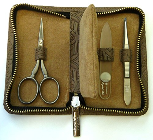 Dovo Embroidery Set with Leather Case, Stainless ()