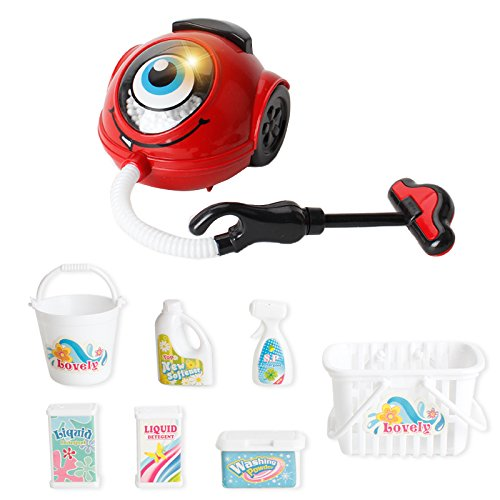 Baoblaze Pretend Play Electric Vacuum Cleaner Appliance Toy Boys Girl Role Pretend Play Housework Game Educational Gift