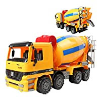 Liberty Imports 14 inches Oversized Friction Cement Mixer Truck Construction Vehicle Toy for Kids