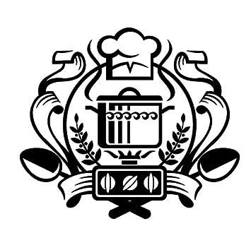 ZOUJIE Etiqueta de la Pared Impermeable Chef Insignia Etiqueta de La Pared Caldera Estufa de Gas Tatuajes de Pared Cocina Decoración para el hogar 67 * 59 ...