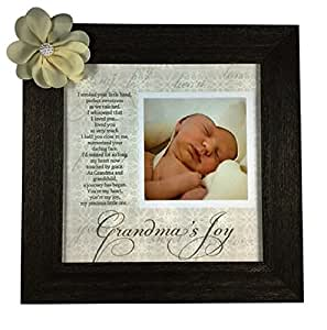 Grandma's Joy Picture Frame with Poetry - Barnwood