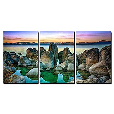 Lake Tahoe California USA Wall Decor x3 Panels...