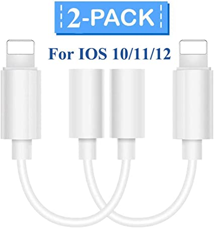 Ergonflow iPhone Headphone Adapter 3.5 mm Headphone Adapter Jack Compatible with iOS 12 3 Pack ,Compatible with iPhone 7//7Plus //8//8Plus //X//Xs//Xs Max//XR Adapter Headphone Jack