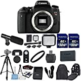 Canon EOS Digital Rebel T6s 24.2 MP Digital SLR Camera Body Only with 2pc Commander 32GB Memory Cards + LED Light + Card Reader + UV Filter + Backpack Case + Tripod (14 Items)